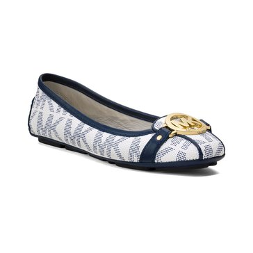 Michael Kors Fulton Moc Women's Slip On Shoe Optic White/Navy