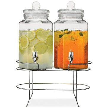 Cellar Double Beverage Dispenser W/ Metal Stand