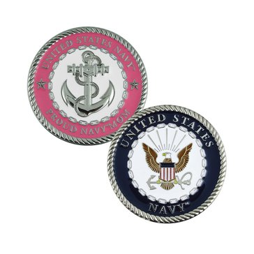 Challenge Coin Proud Navy Mom Coin