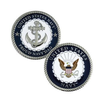 Challenge Coin Proud Navy Dad Coin