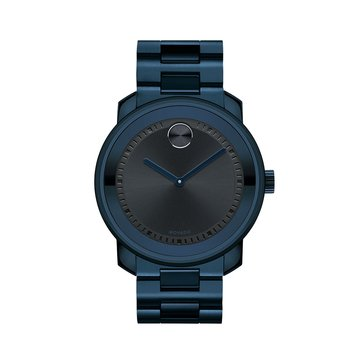 Movado Men's Bold Navy Tone Stainless Steel Bracelet Watch, 43mm