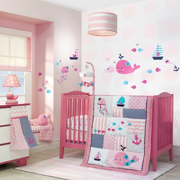 Lambs & Ivy Splish Splash 4-Piece Crib Bedding Set