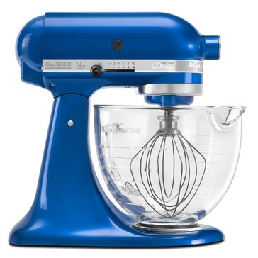 KitchenAid Artisan Design Series 5-Quart Stand Mixer with Glass Bowl - Electric Blue (KSM155GBEB)