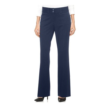 Alfani Women's Curvy-Fit Trouser Pants in Navy