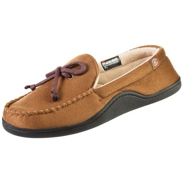 Isotoner 91956-Sepia Brown Microsuede Moccasin Slipper-Sepia Brown