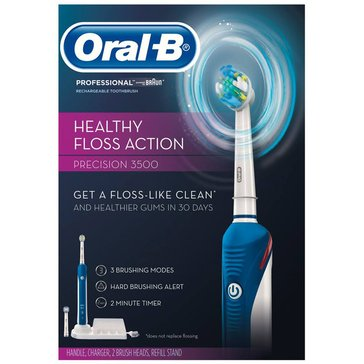 Oral-B Professional Care 3500 Healthy Floss Action Precision Rechargeable Toothbrush