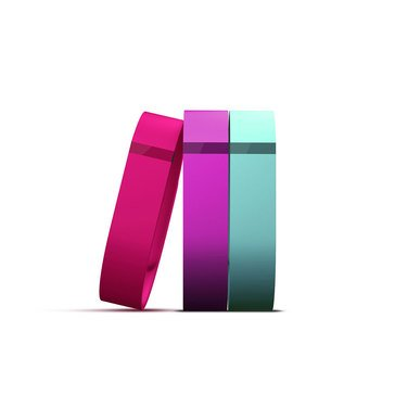 Fitbit Flex Vibrant Accessory Pack - Violet/Pink/Teal - Large