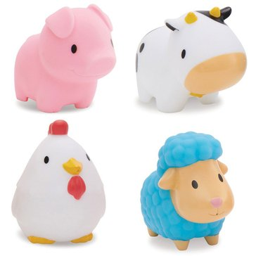 Munchkin Squirin Barnyard Friends Bath Toys, 4-Pack