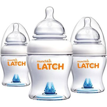 Munchkin LATCH 4oz Bottles, 3-Pack
