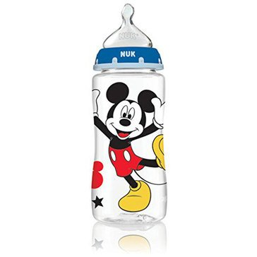 Nuk Mickey Mouse 10oz Orthodontic Medium Flow Silicone Bottle, 3-Pack