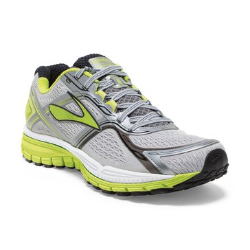 Brooks Ghost 8 Men's Running Shoe Charcoal/Lime Punch/Silver