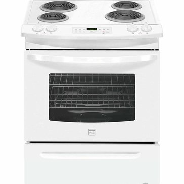 Kenmore 4.6-Cu.Ft. Self-Clean Slide-In Electric Range w/ Deluxe Coil Elements, White (22-42522)