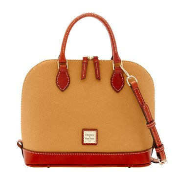 Dooney & Bourke Pebble Zip Zip Satchel - Desert