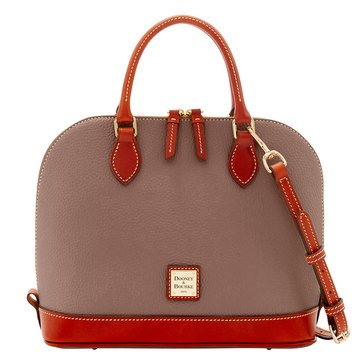 Dooney & Bourke Pebble Zip Zip Satchel Elephant