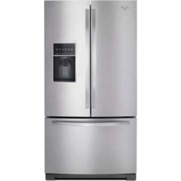 Whirlpool 27-Cu.Ft. French Door Refrigerator, Stainless Steel (WRF757SDEM)