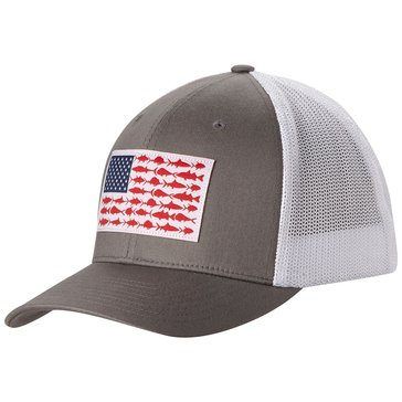Columbia Mesh Ball Cap Grey Flag