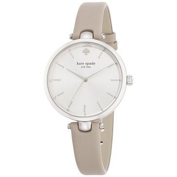 Kate Spade Women's New York Holland Grey Leather Strap Watch, 34mm