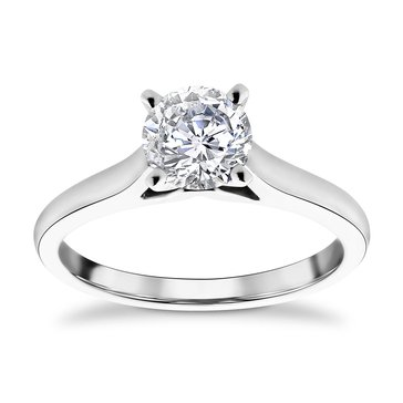 14K White Gold 1.0 Cttw Diamond Solitare Ring