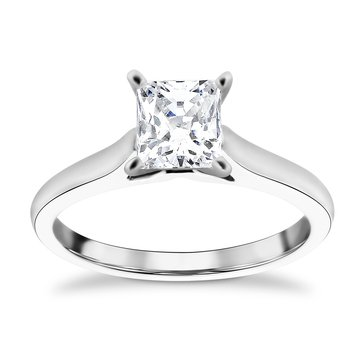 14K White Gold 1.0 Cttw Diamond Solitaire Ring