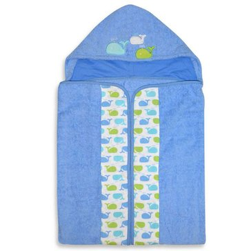 Just Born Sea Bright Whale Hooded Bath Wrap