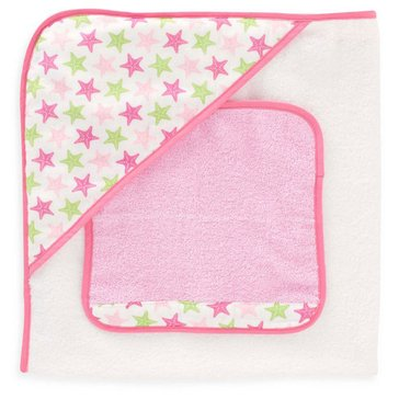 Just Born Sea Brights Starfish Hooded Towel and Washcloth Set