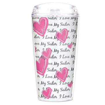 MCM USN Love My Sailor GlitterMax Tritan 16 Oz Tumbler With Lid