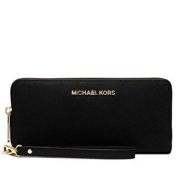 Michael Kors Jet Set Travel Continental Wristlet Black