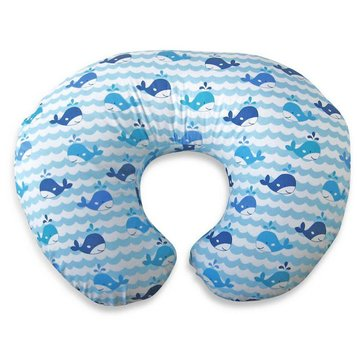 Boppy Pillow with Whale Watch Slipcover