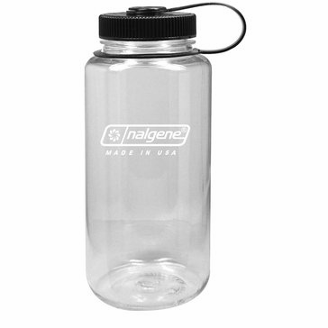 Nalgene 32 Oz. Tritan Wide Mouth BPA-Free Water Bottle - Clear/Black Cap