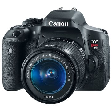 Canon EOS Rebel T6i 24.2 MP DSLR with 18-55mm IS STM Lens Kit