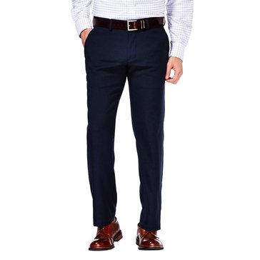 Haggar Men's Navy Slimfit Performance Microfiber Pants