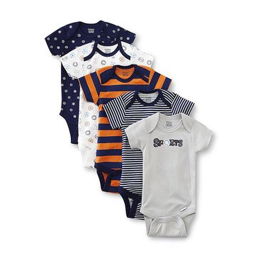 Gerber Newborn 5-Pack Fashion Onesies