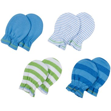 Gerber Baby Boys' 4-Pack Mittens