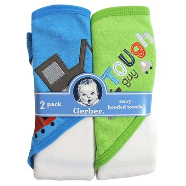 Gerber Newborn 2-Pack Hooded Towels