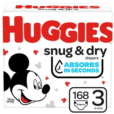 Huggies Snug & Dry - Size 3, Giant Pack 180-Count
