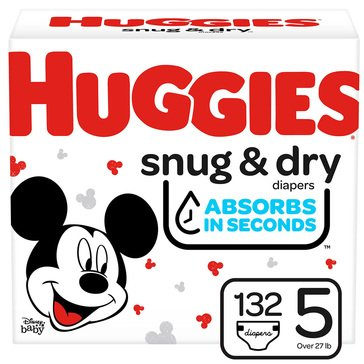 Huggies Snug & Dry - Size 5, Giant Pack 136-Count