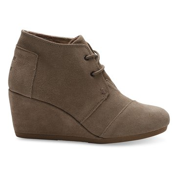 Toms Taupe Suede Desert Wedge