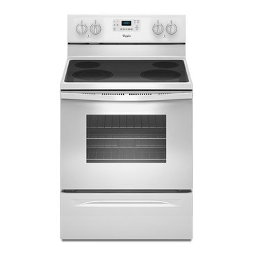 Whirlpool 5.3-Cu.Ft. Freestanding Electric Range, White (WFE515S0EW)