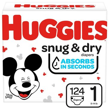Huggies Snug & Dry - Size 1, Super Pack 148-Count