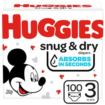 Huggies Snug & Dry - Size 3, Super Pack 132-Count