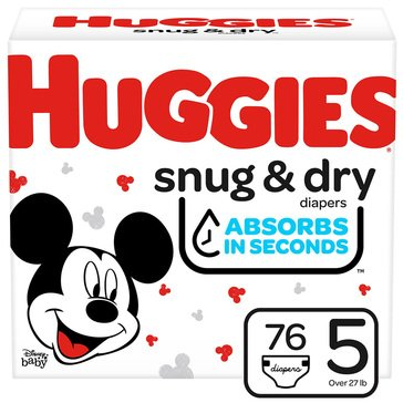 Huggies Snug & Dry - Size 5, Super Pack 96-Count