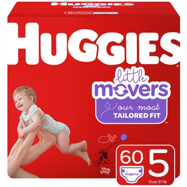 Huggies Supreme Little Movers - Size 5, Super Pack 66-Count