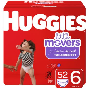 Huggies Supreme Little Movers - Size 6, Super Pack 54-Count