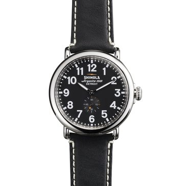 Shinola Unisex Birdy Leather Strap Watch, 41mm