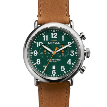 Shinola Men's Canfield Chronograph Leather Watch, 47mm