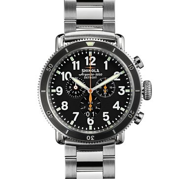 Shinola Men's Runwell Stainless Steel Bracelet Chronograph Watch, 48mm