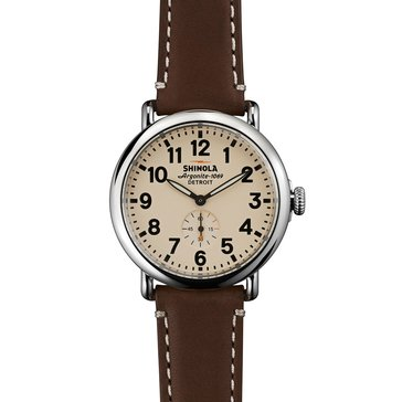 Shinola Unisex  Canfield Leather Strap Watch 41mm