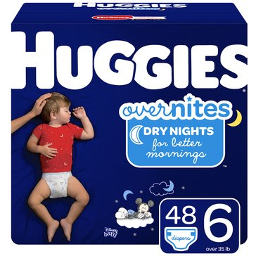 Huggies Overnites Little Movers, Size 6 - Super Pack 54-Count