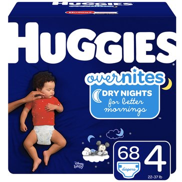 Huggies Overnites Little Movers, Size 4 - Super Pack 74-Count
