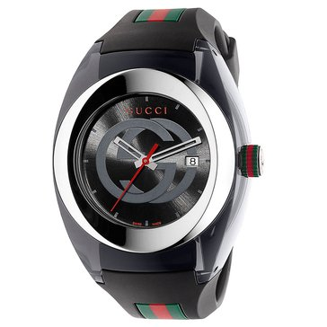 Gucci Sync Unisex Rubber Strap Watch 36mm